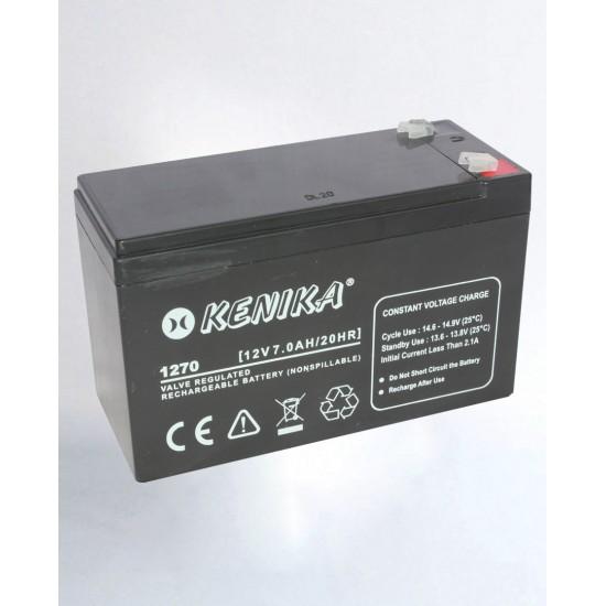 Kenika Battery 1270 - 12V 7.0AH